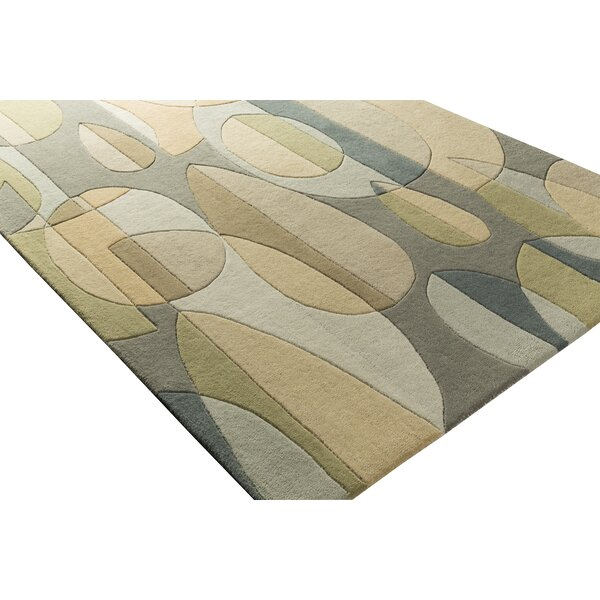 Dewald Hand-Tufted Blue/Green Area Rug by Ebern Designs