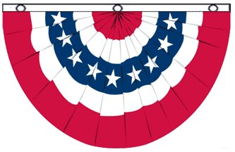 USA Bunting Pleated Flag by Flags Importer