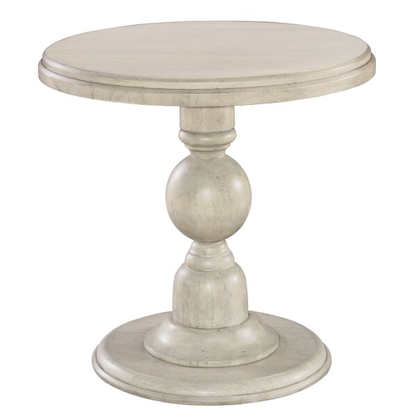 Slade Pedestal End Table By One Allium Way