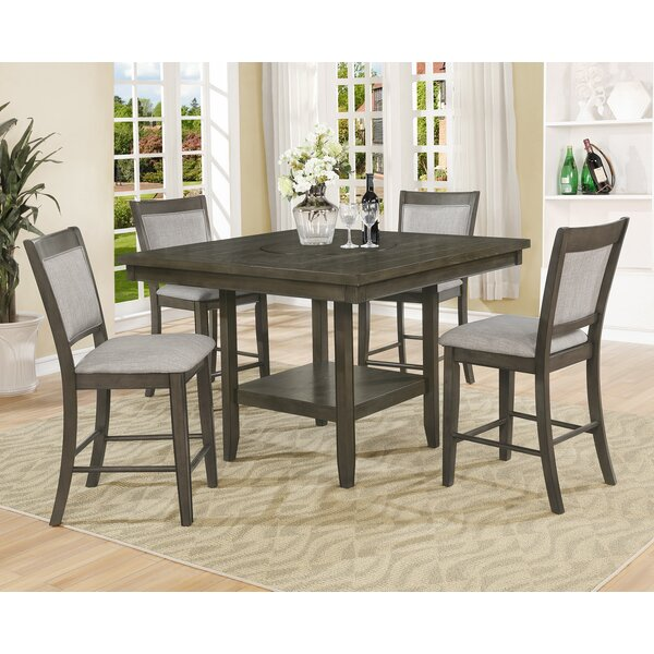 Briella 5 Piece Counter Height Dining Set by Gracie Oaks