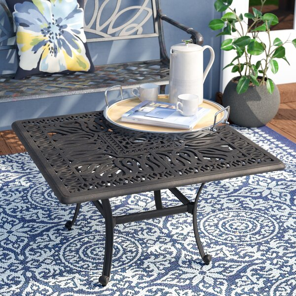 Kristy Aluminum Coffee Table by Darby Home Co