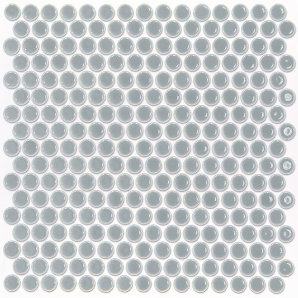 Bliss 0.75 x 0.75 Ceramic Mosaic Tile in Modern Gray by Splashback Tile