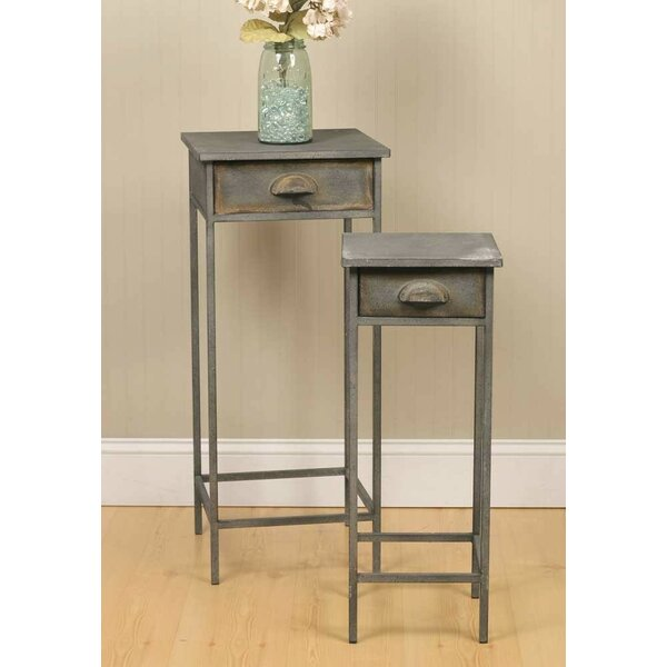 2 Piece 1 Drawer Nightstand Set by Pyper Marketing LLC
