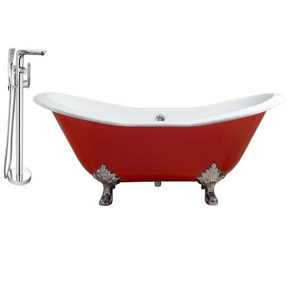 Cast Iron 61 x 30 Clawfoot Soaking Bathtub by Streamline Bath