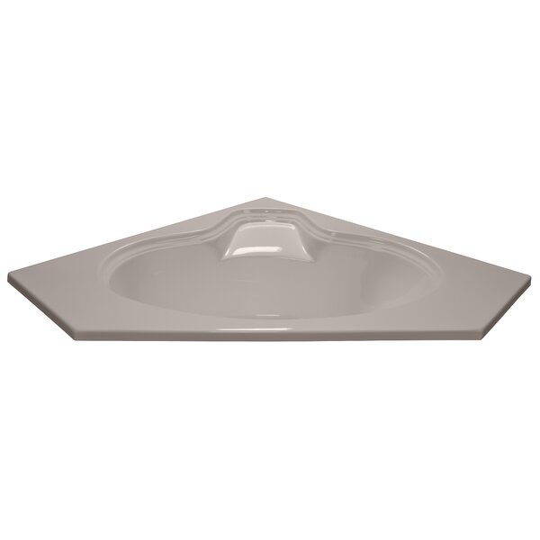 60 x 60 Soaker Corner Oval Bathtub by American Acrylic