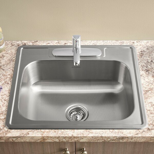 Colony 15 L x 15 W Single Bowl Drop-In Kitchen Sink by American Standard