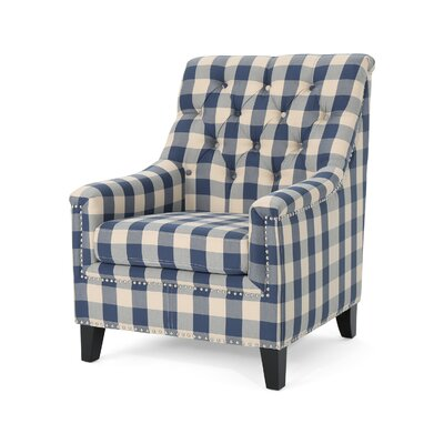Neely Armchair Upholstery: Blue