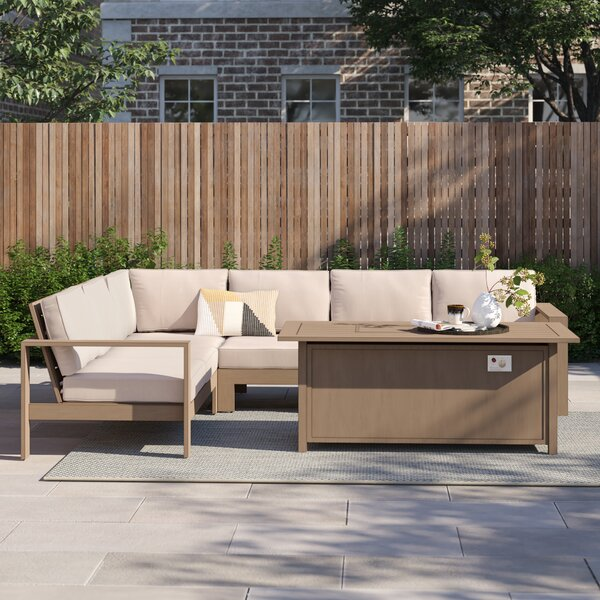 Daly 5 Piece Sofa Seating Group with Cushion by Foundstone