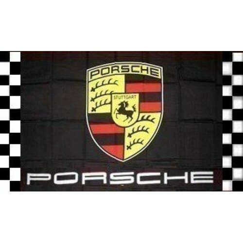 Porsche Checkered Polyester 3 x 5 ft. Flag by NeoPlex
