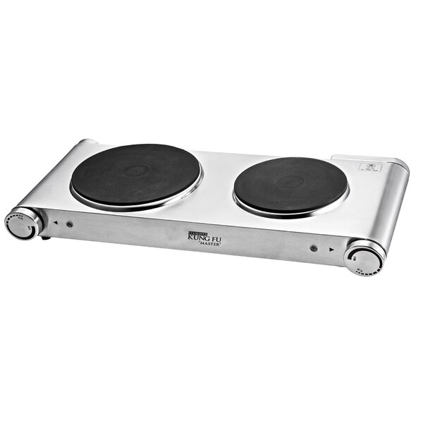 Kung Fu Master Electric Double Burner by Cookinex
