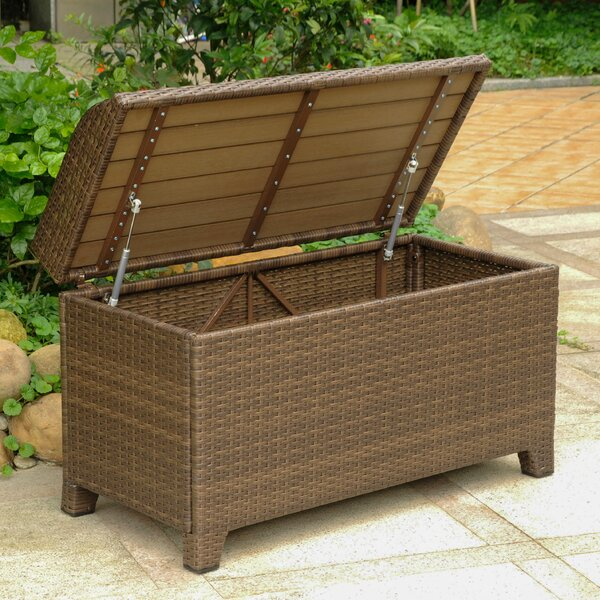 Katzer Brescia Resin Plastic Storage Bench by Brayden Studio