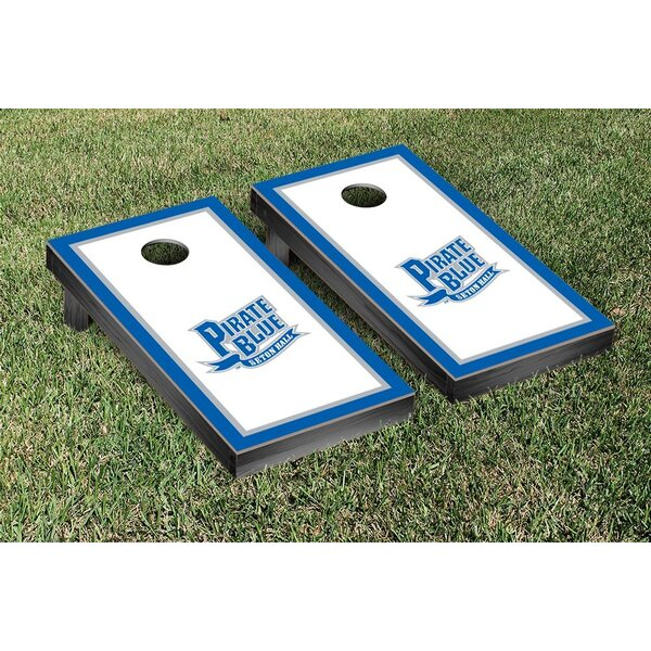 NCAA Border Wooden Script Cornhole Game Set by Victory Tailgate