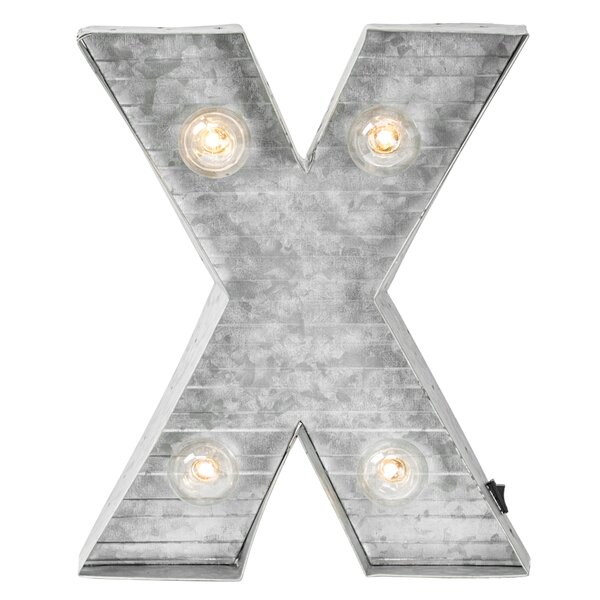 Letter X Metal LED Marquee Sign by Williston Forge