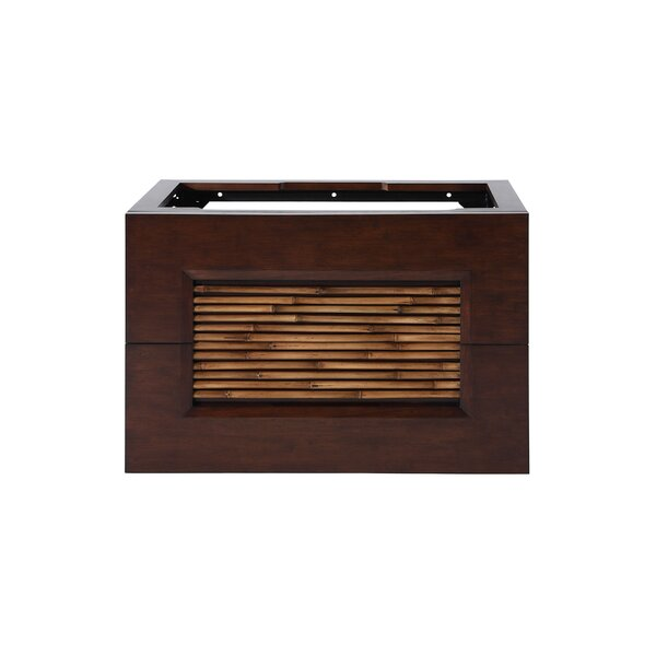 Hollifield 36 Bathroom Vanity Cabinet in Dark Bamboo by Bloomsbury Market