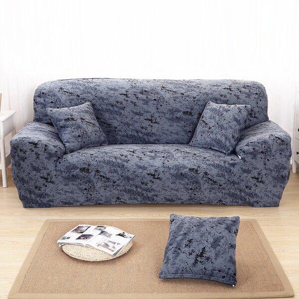 Elegant Polyester And Spandex Box Cushion Sofa Slipcover By Ebern Designs
