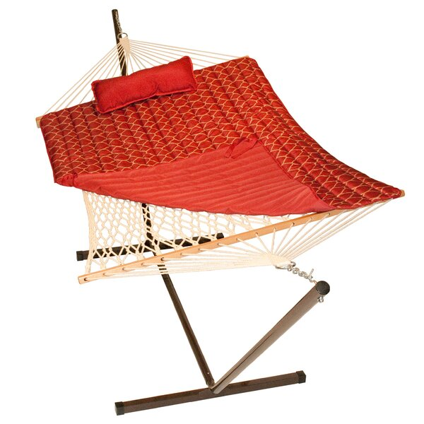 4 Piece Rope Cotton Hammock with Stand Set by Algoma Net Company