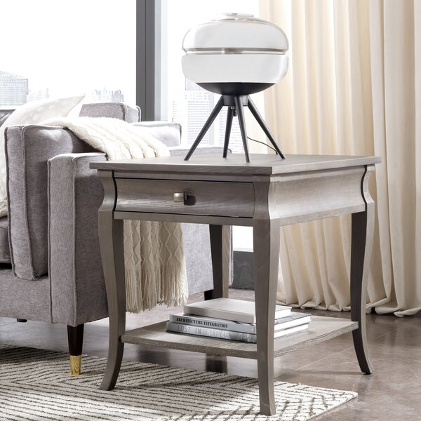 Lola End Table With Storage By One Allium Way