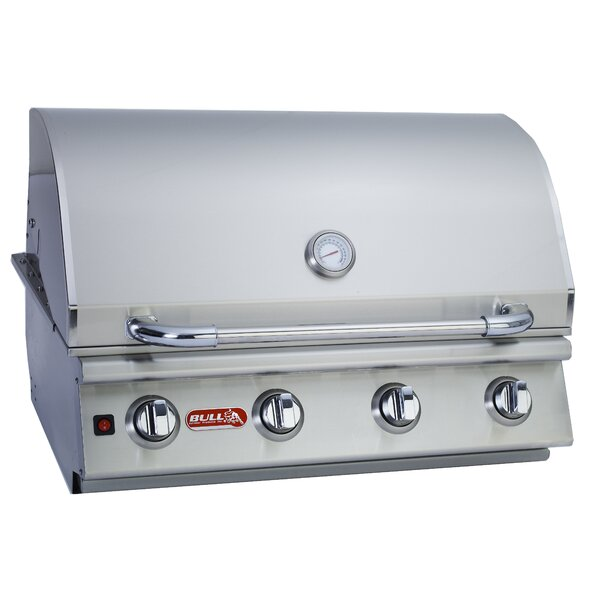 Lonestar 4-Burner Built-In Propane Gas Grill by Bull Outdoor Products