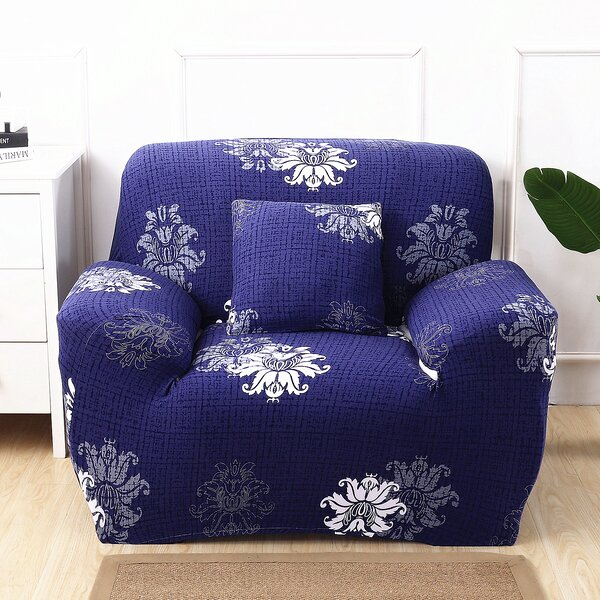 Elegant Polyester And Spandex Box Cushion Armchair Slipcover By Ebern Designs