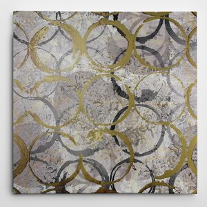 Rings of Gold by Katrina Craven Graphic Art on Wrapped Canvas by Wexford Home