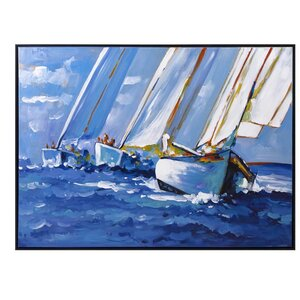 'Sail Away' Framed Painting Print by Woodland Imports