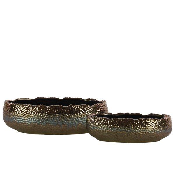 Kieron 2-Piece Ceramic Pot Planter Set by World Menagerie