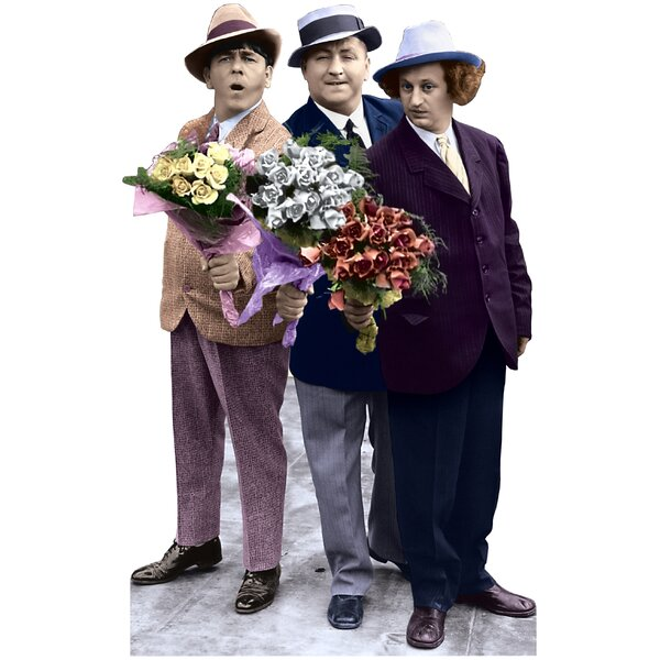 Three Stooges with Flowers Life-Size Cardboard Stand-Up by Advanced Graphics