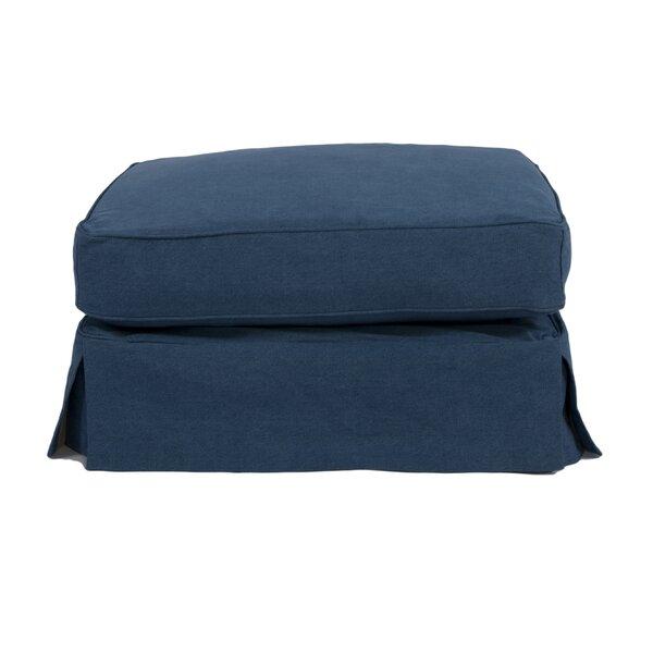 Oxalis Box Cushion Ottoman Slipcover by Breakwater Bay