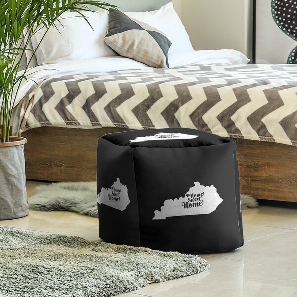 Home Sweet Louisville Cube Ottoman By East Urban Home