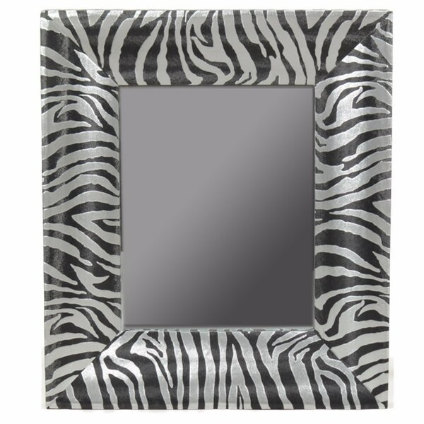 Crosslin Striped Wooden Accent Mirror by World Menagerie