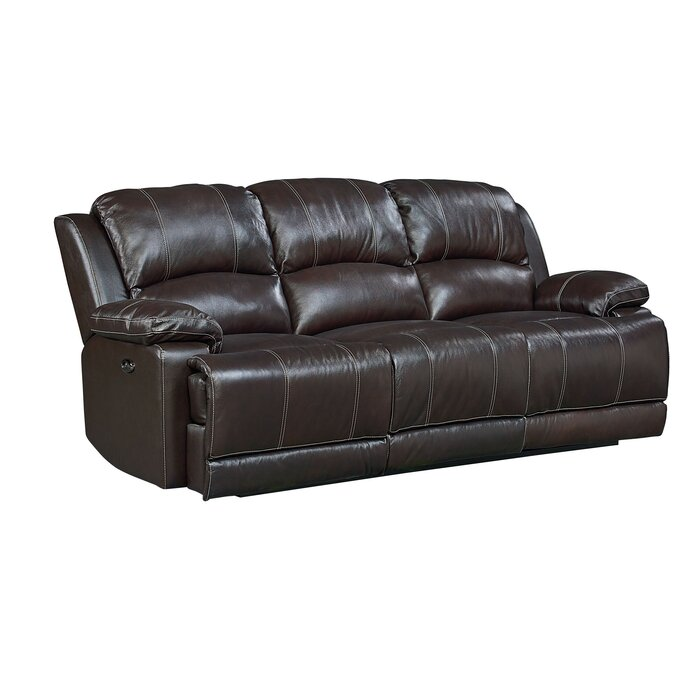 Garlock Leather Reclining Sofa