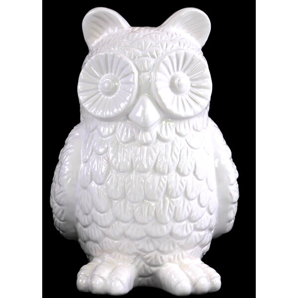 Ceramic Standing Owl Figurine by Urban Trends