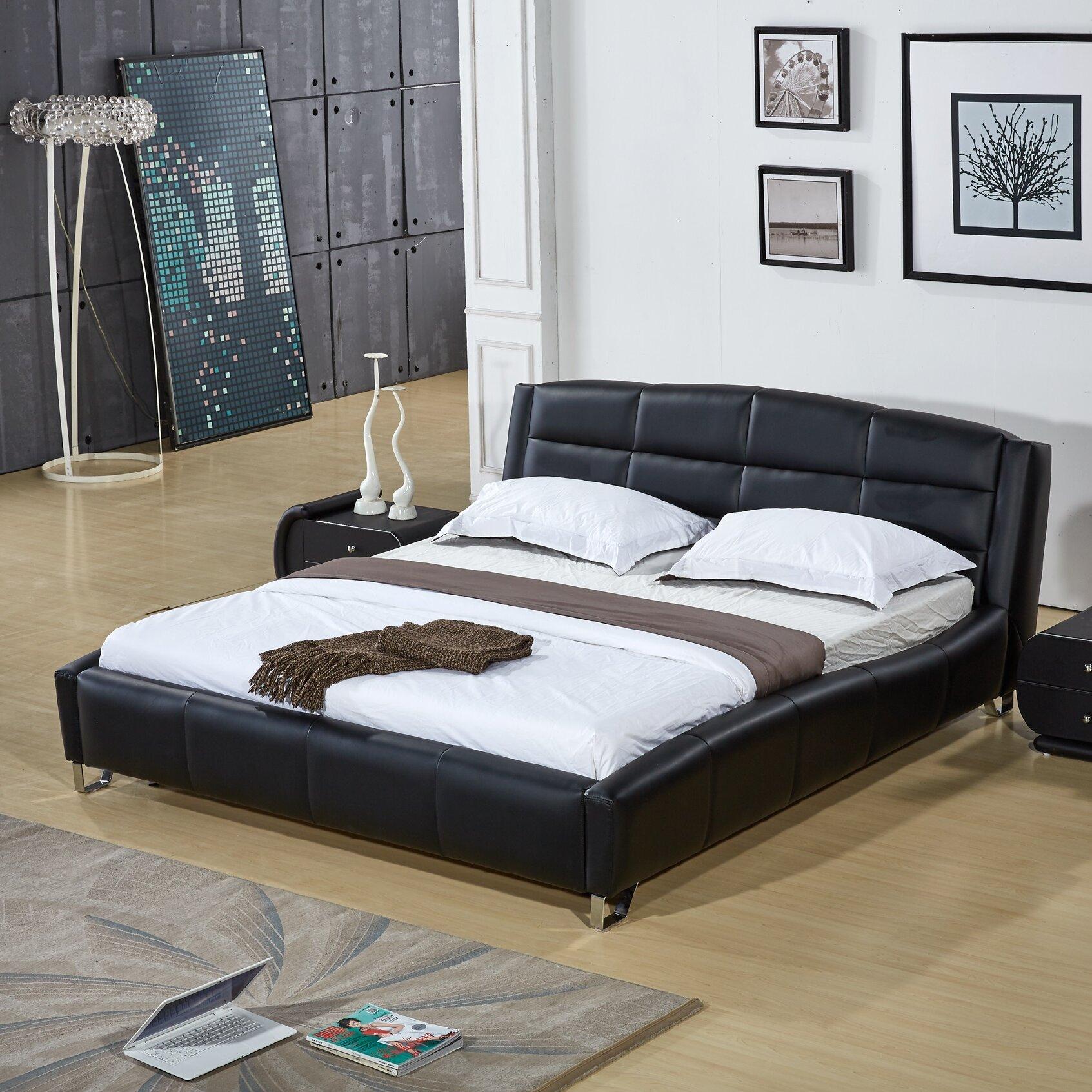 Upholstered platform bed reviews allmodern - Seagrass platform bed ...
