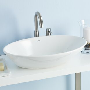 Compare Geo Ceramic Oval Vessel Bathroom Sink ByCheviot Products