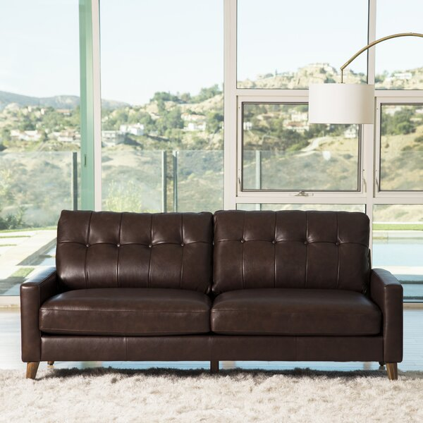 Annalise Wright Leather Sofa by Corrigan Studio