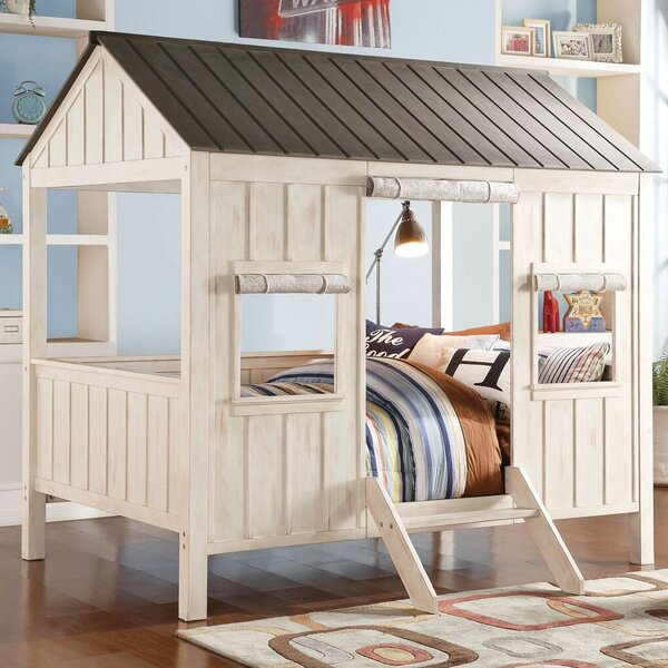 Pennie Cottage Full Canopy Bed by Harriet Bee