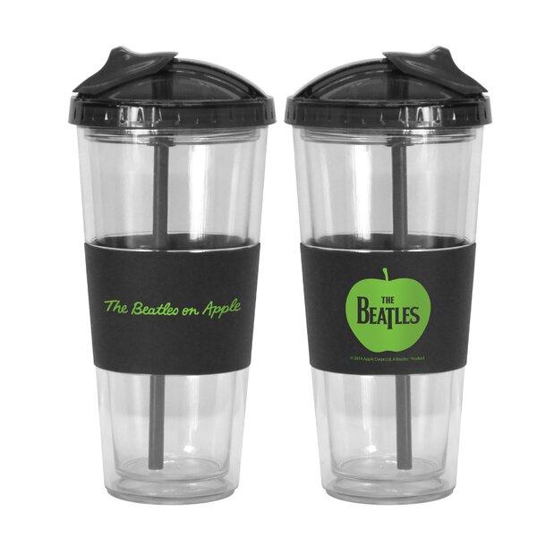 Beatles Apple No-Spill Straw 22 oz. Plastic Travel Tumbler by Boelter Brands
