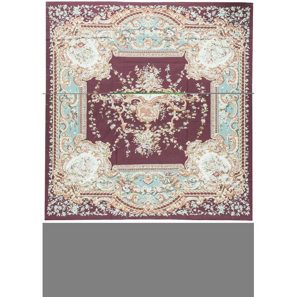 One-of-a-Kind Aubusson Renaissance Hand-Knotted Beige 11'1 x 15'5 Wool Area Rug