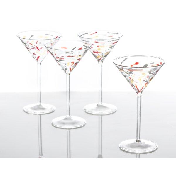 Palazzo Confetti 6 Oz. Martini Glass (Set of 4) by Abigails