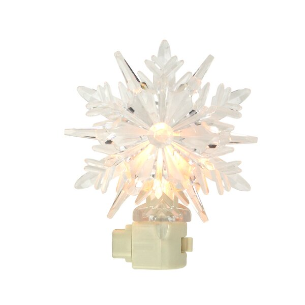 Icy Crystal Decorative Snowflake Night Light by Penn Distributing