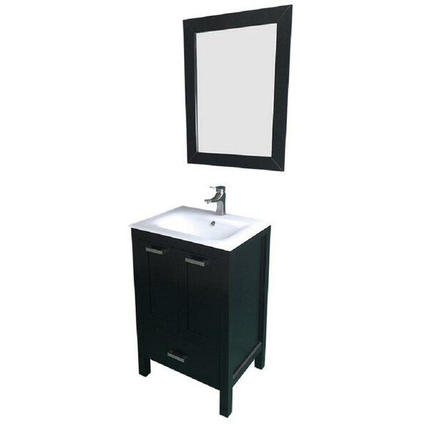 Hirst 24 Single Bathroom Vanity Set with Mirror by Latitude Run| @ $799.99