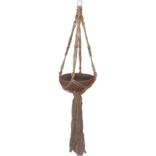 Bengal Macrame Jute Hanging Planter by Bay Isle Home