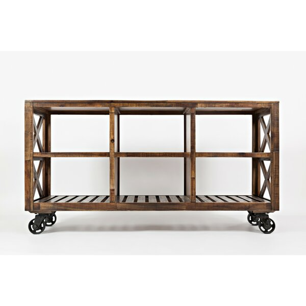 Obadiah Rustic Wooden Bar Cart by 17 Stories