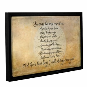 Seconds to Eon Framed Textual Art on Gallery Wrapped Canvas by Winston Porter