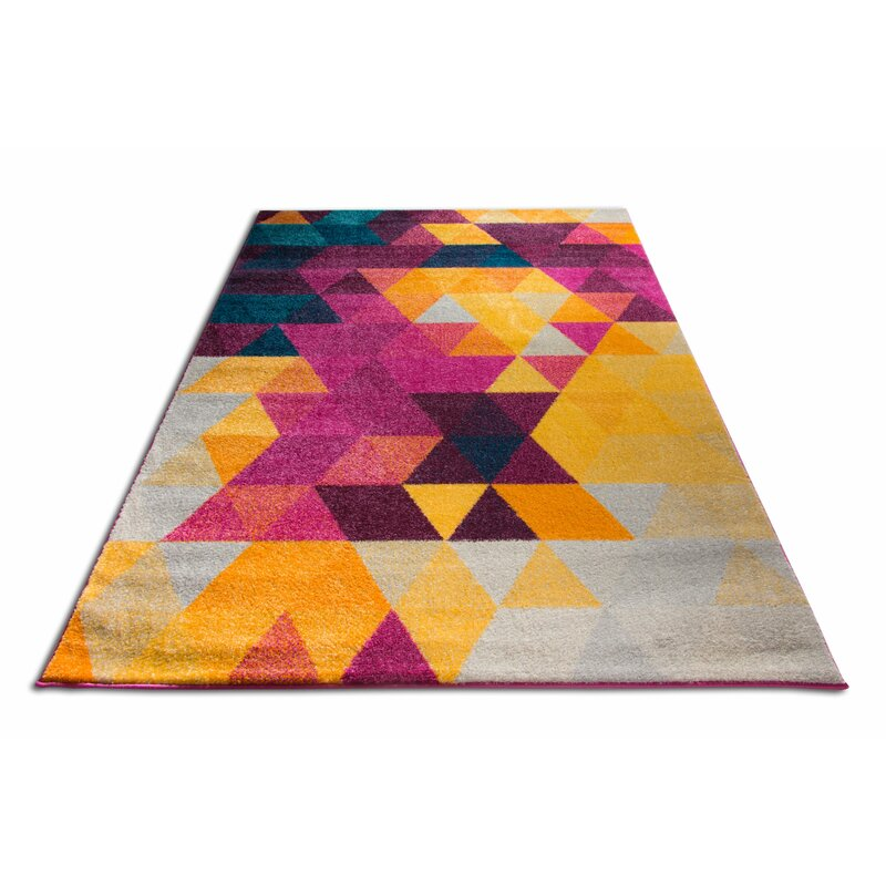 Wrought Studio Bunce Mid-Century Modern Geometric Triangle ...