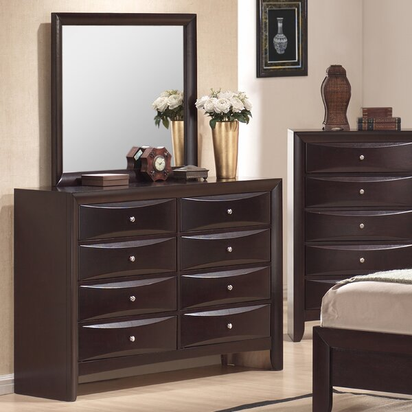 Archer 8 Drawer Double Dresser with Mirror by Latitude Run