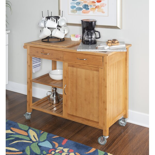 Rafferty Kitchen Cart With Granite Top By Millwood Pines New