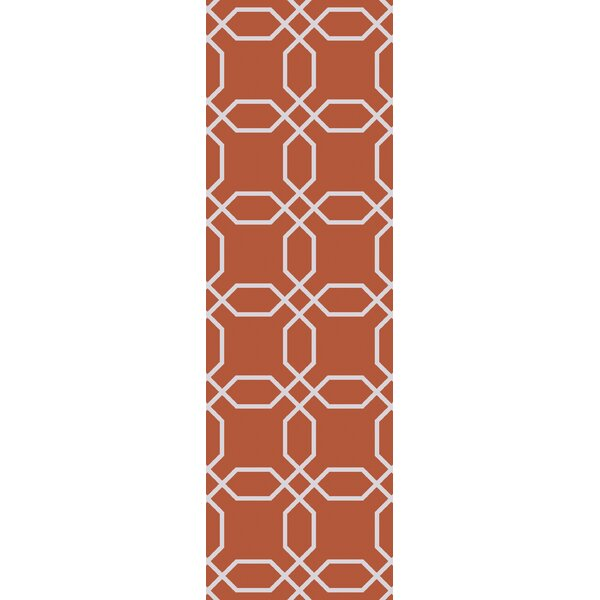 Larksville Rust/Ivory Indoor/Outdoor Area Rug by Charlton Home