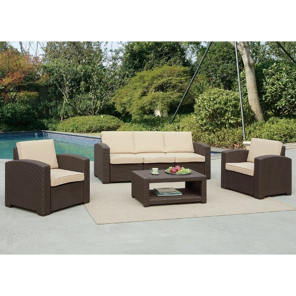 Antoinette Coastal 4 Piece Sofa Seating Group with Cushions by Darby Home Co