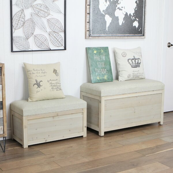 Fecteau 2 Piece Storage Bench Set by Highland Dunes Highland Dunes